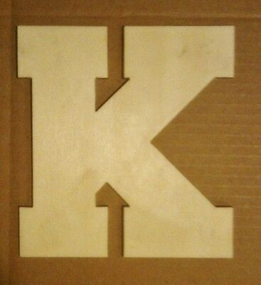 """12"""" Wooden Block style Letter Unfinished wood letters Custom 12 inch"""