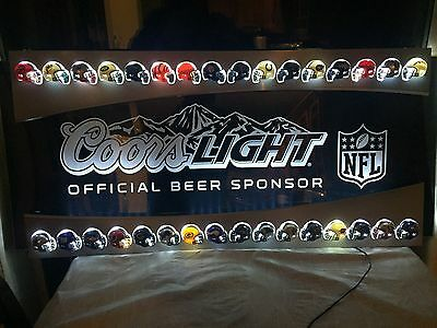 NFL Coors Light edge lit helmet sign sports bar lounge restaurant LED neon