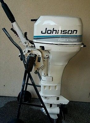 8hp johnson outboard 4 stroke ( can freight australia wide )