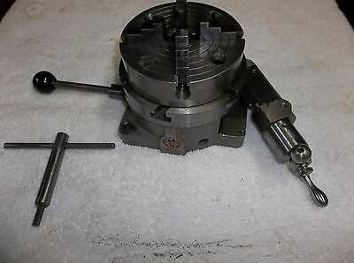 "SouthBend Rotary Table 4 1/2"" with  4 Jaw Head and Key.."