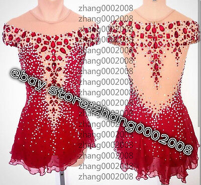 Ice Figure Skating Dress /Rhythmic Gymnastic Costume/Twirling Tap Dance Leotard