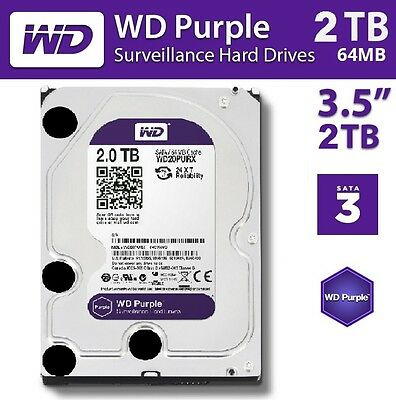 "Western Digital WD 2TB Purple Surveillance HDD 3.5"" SATA 6GB Internal Hard Drive"