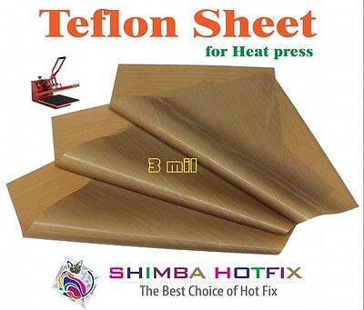 3 Pack 15X15   Teflon Sheet for Heat Press   3 mil (0.003 inch)