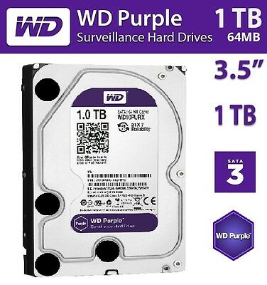 "Western Digital WD 1TB Purple Surveillance HDD 3.5"" SATA 6GB Internal Hard Drive"