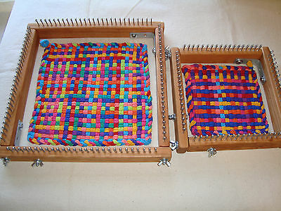 Combo - 1 Jumbo & 1 Traditional Size Potholder Weaving Looms loops Cottage Looms