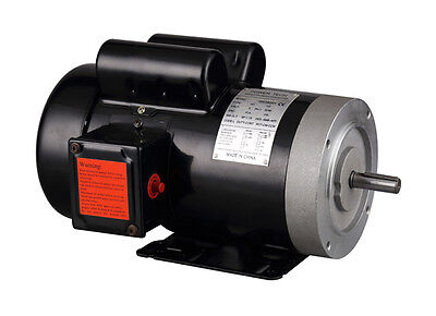 "2HP Electric Motor 5/8"" Shaft , Single Phase, 115/230V, 56C  , 1750 RPM, TEFC"