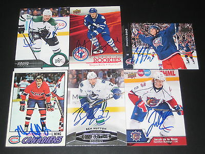 """MORGAN RIELLY autographed '13/14 TORONTO MAPLE LEAFS """"Canada's Rookies"""" card"""
