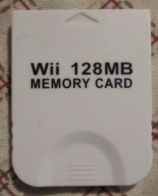 Generic Wii 128MB Memory card for Nintendo Wii White