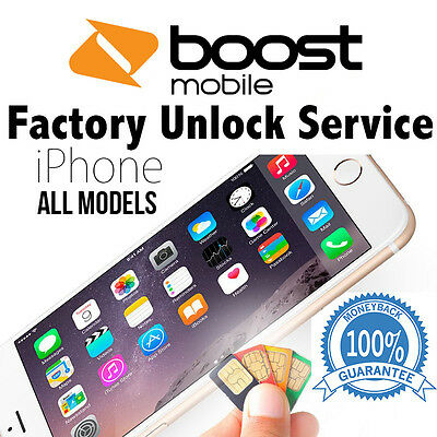 Boost Mobile Iphone 5S Se 6 6+ 6S 6S+ Factory Unlock Service Code 100% Guarantee