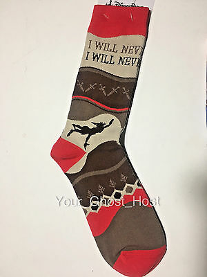 Peter Pan Sock PairLong Tall Men Never Grow Up One Size Disney Limited Exclusive