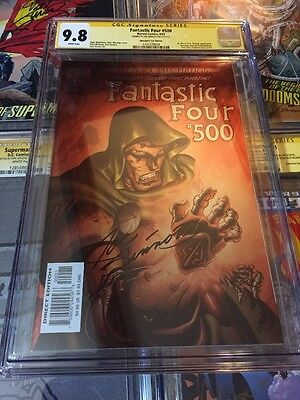 Fantastic Four 500 Cgc 9.8 Ss Joe Sinnott Doom Marvel Foil Cover Directors Cut