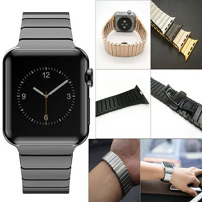Butterfly Lock Link Watch Band Strap Stainless Steel for Apple Watch Series 2/1