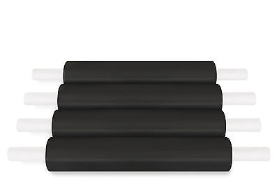 """(4 Roll) Black Extended Pallet Stretch Wrap Hand wrap 20"""" x 1000 Ft x 80 Gauge"""