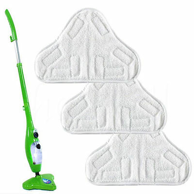 1/3/6PC Soft Microfiber Steam Mop Floor Washable Replacement Pads For H2O H20 X5