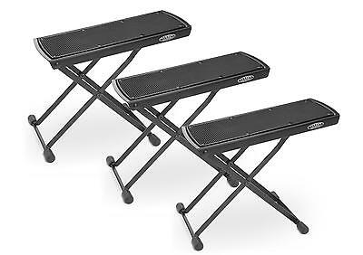 3x ELECTRIC ACOUSTIC CLASSIC GUITAR FOOTREST FOOT BANK SUPPORT STAND BLACK SET