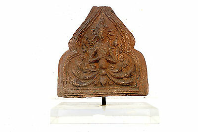 Beautful Rare Angle Clay a Part of Antique Roof with Stand Acrylic Don't Miss