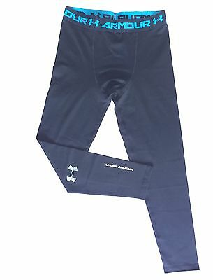 *NEW UA Under Armour Men's Heat Gear Leggings Black Base Layer Pants Size L