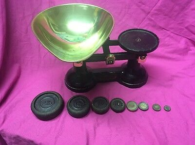 Vintage F J Thornton & Co Ltd The Viking Black Weighing Scales & Weights
