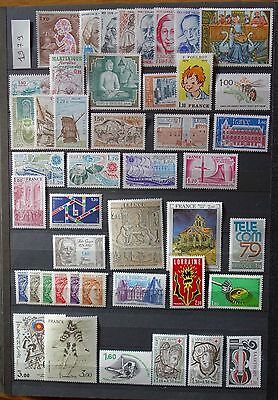 FRANCE ANNEE 1979 COMPLETE (sauf n° 2062-2063) en TIMBRES NEUFS TB** - Cote 42 €