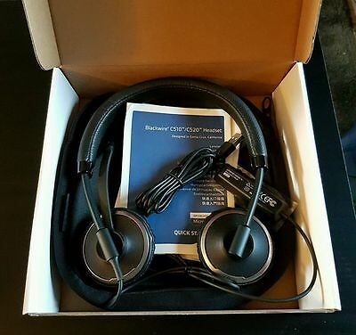 Plantronics Blackwire C520-M Binaural Usb Headset For PC/ Laptop