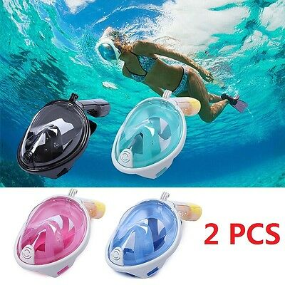 GoPro L/XL/S/M Full Face Mask For Swimming Diving Breath Surface Snorkel Scuba