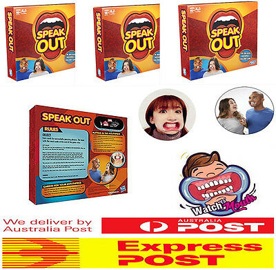New Speak Out Board Game + Extra 10 Replacement Mouthpieces Cheek Retractor