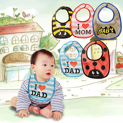 Typ K3A5 Baby Kids Infant Cute Cartoon Animal Bibs Lunch Bibs Soft Saliva Towel