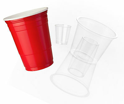 150 x Plastic Party Game Pack, Beer Pong & Jager Bomb Shot Cups [5055202126138]