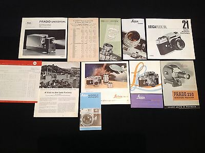 JOBLOT VINTAGE 60's LEICA LEITZ CAMERA PHOTOGRAPHIC BROCHURES LEAFLETS  REF F13A