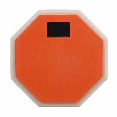 "Orange 6"" Double Sided Snare Drum Practice Pad Realistic Feel"