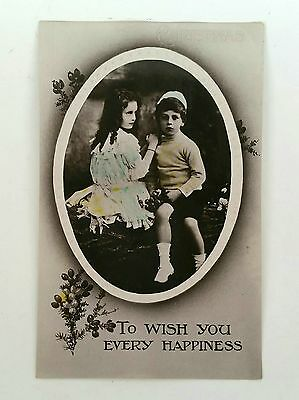 Antique - Christmas Card - Post Card Type - 1909 - Postcard - Greeting Card