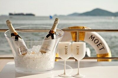 Moet & Chandon Ice Glasses x2 New & Boxed