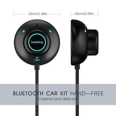 Lumsing Bluetooth 4.0 Handsfree Car Kit Music Receiver For Cars with 3.5mm Aux I