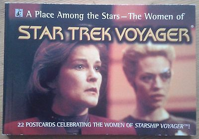 A Place Among the Stars - The Women of Star Trek Voyager book of 22 postcards