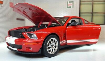 Ford Mustang 2007 GT Coupe Shelby Cobra GT500 1:24 Scale Welly Model Car 22473