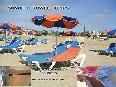 SUNBED TOWEL CLIPS for your holidays