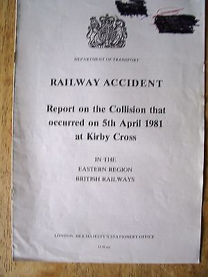 Railway Accident Report, Kirby Cross 1981