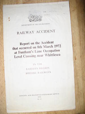 Railway Accident Report, Funthams Lane level crossing Whittlesea 1972