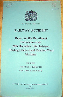 Railway Accident Report, Reading 1965, between General & West stations