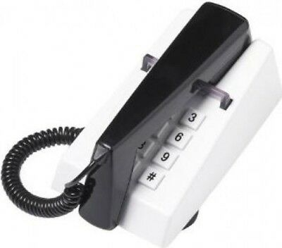 Steepletone Retro White & Black Trim Phone
