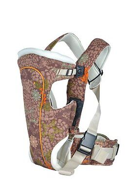 BeBear Tan and Brown Mosaic and Leaf Pattern Baby Carrier 3 in 1