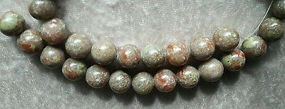 1 LOT DE 39 PERLES en Unakite 10 mm