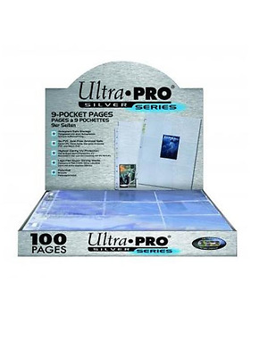 Ultra Pro Silver Series 9 Pocket Trading Card storage for binder, 100 Pages Box