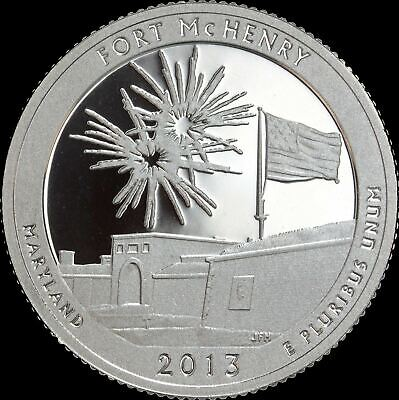 2013 S Maryland Quarter ATB Fort McHenry Gem PROOF Deep Cameo US Mint Coin