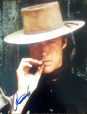 Clint Eastwood Genuine Authentic Autograph Signed Western 16 X 12 Photo Aftal
