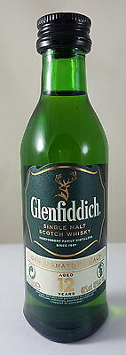 Collection miniature bottle Glenfiddich 12y scotch whisky