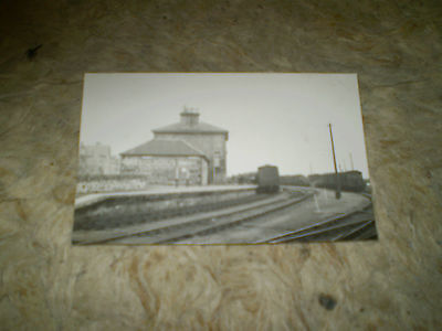 scotland moray lossiemouth station rp real photo postcard