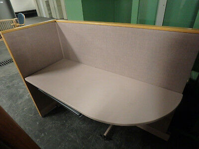 Corner Partition With Desk Top