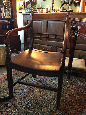 ANTIQUE REGENCY COUNTRY CARVER c1800-20 GEORGIAN COUNTRY CHAIR