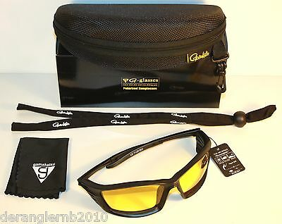 Gamakatsu G-glasses WINGS Amber Polarisationsbrille Polbrille Race NEW OVP